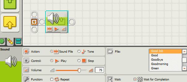 Using sound on the NXT - vanslooten com