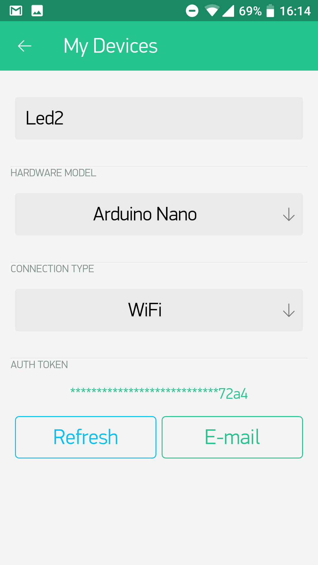 Connect An Esp8266 Module To Arduino Nano And Control It With Wiring In The Blynk App Change Project Settings Reflect New Way We Cloud Via Wifi