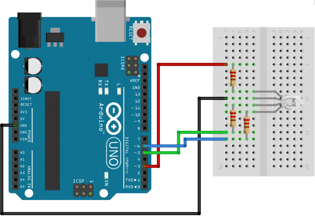 Control an RGB LED from an Android App via Bluetooth